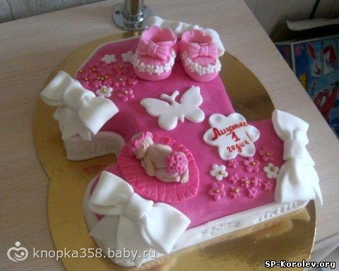 торты на 1 год девочке фото